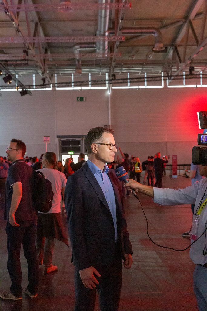 Interview auf der Gamescom - Spielemesse mit Jens Kosche,  Geschäftsführer / Chef von EA Deutschland