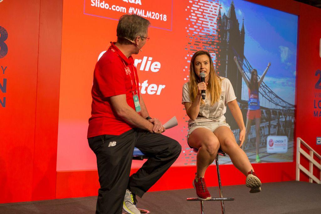 Interview mit Charlie Webster bei der London Marathon Messe