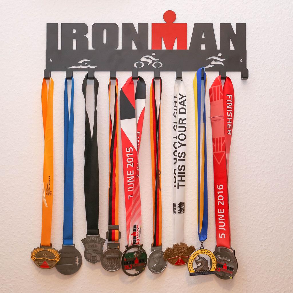 Ironman und Marathon Medallien