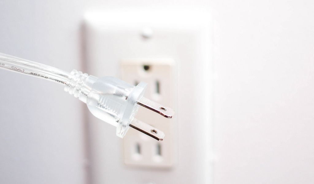 Isolated White Electric Outlet