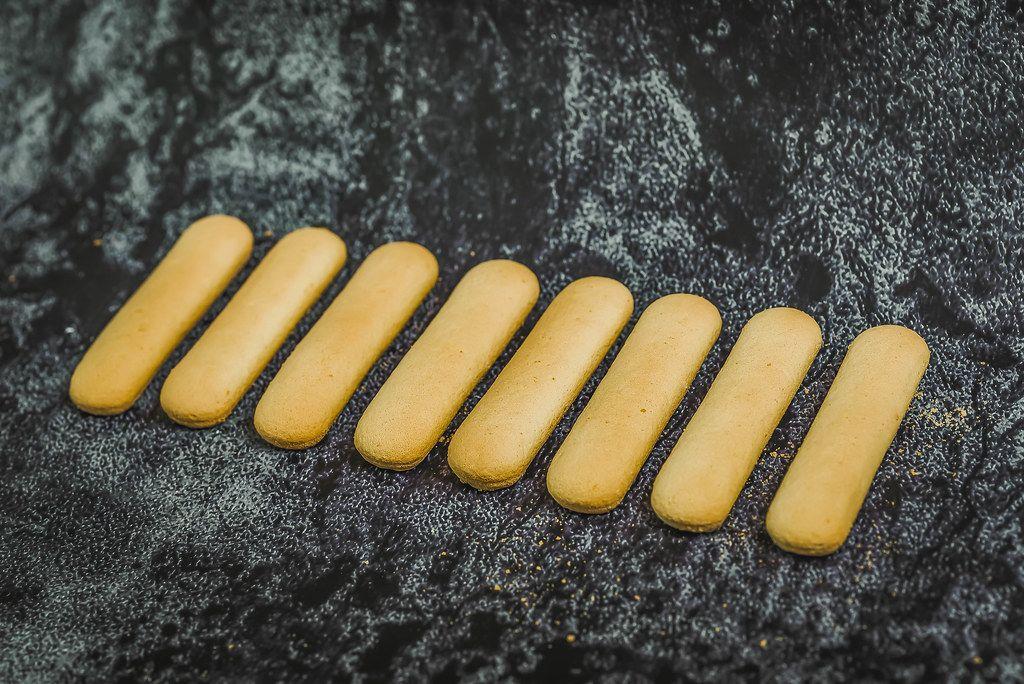 Italian savoiardi cookies