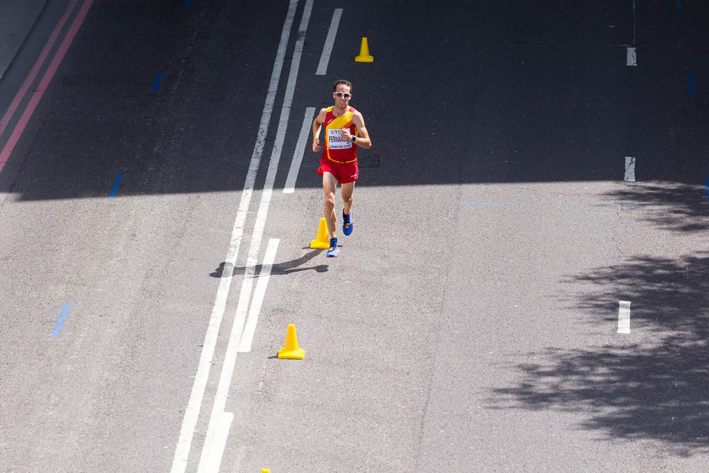 Iván Fernandez (Marathon Finale) bei den IAAF Leichtathletik-Weltmeisterschaften 2017 in London