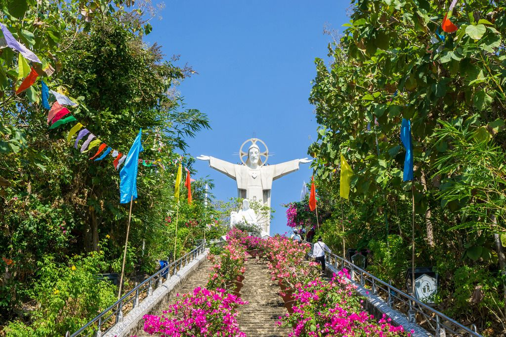 Jesus Christ Statue on Top of a Mountain in Vung Tau, Vietnam
