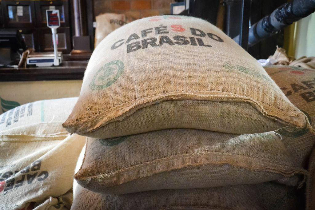 Kaffeebohnensäcke