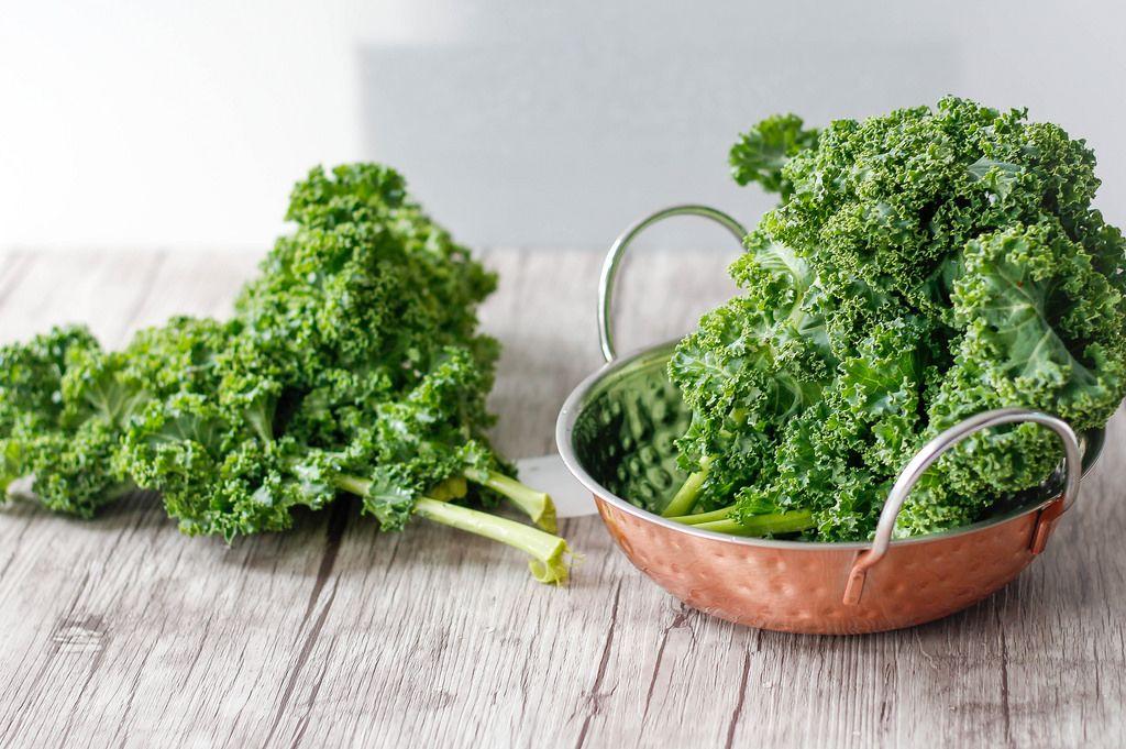 Kale in a Copper Bowl