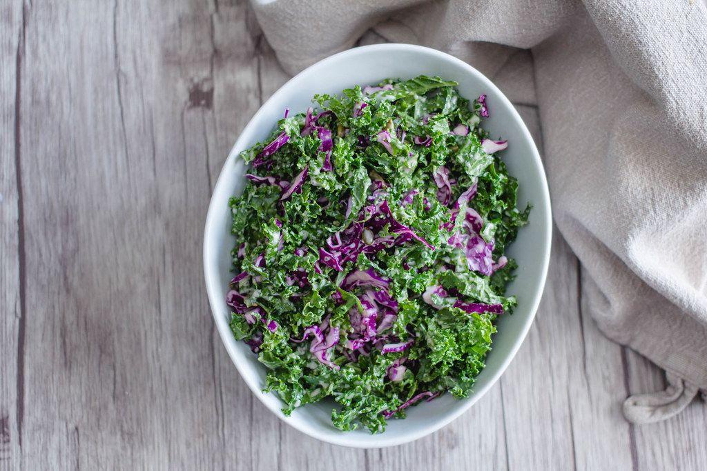 Kale  Salad Close Up Top View  (Flip 2019)