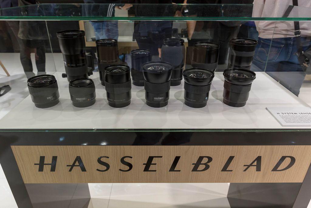 Kamera Objektive von Hasselblad an der Photokina in Köln