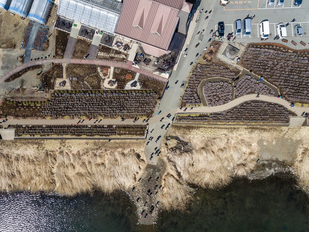 Kawaguchiko Natural Living Center Aerial View