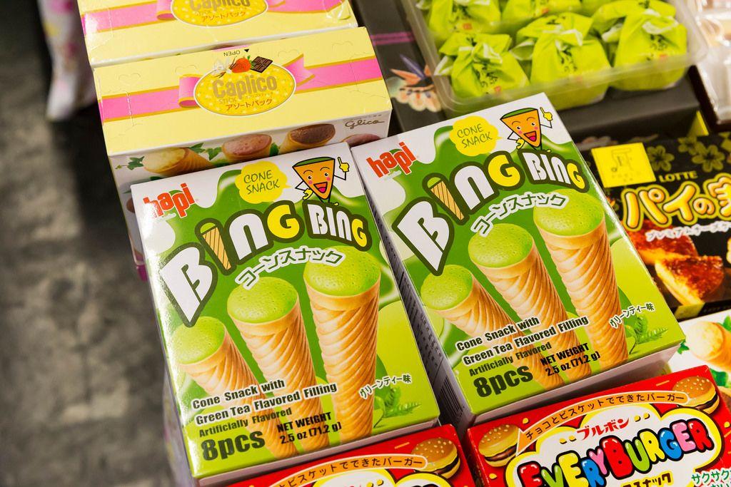 Kegelförmige Süßigkeiten aus Japan Cone Snacks - Gamescom 2017, Köln