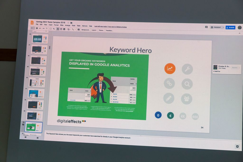 Keyword Hero und Keywords in Google Analytics