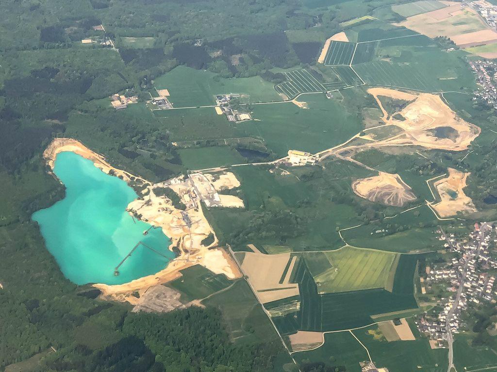 Kiesgrube Luftbild