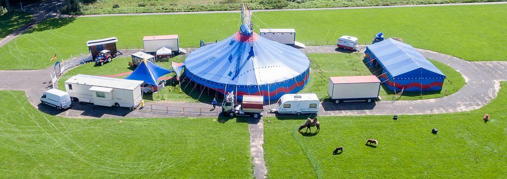 Kleiner Zirkus auf dem Heinz-Baum-Platz in Köln