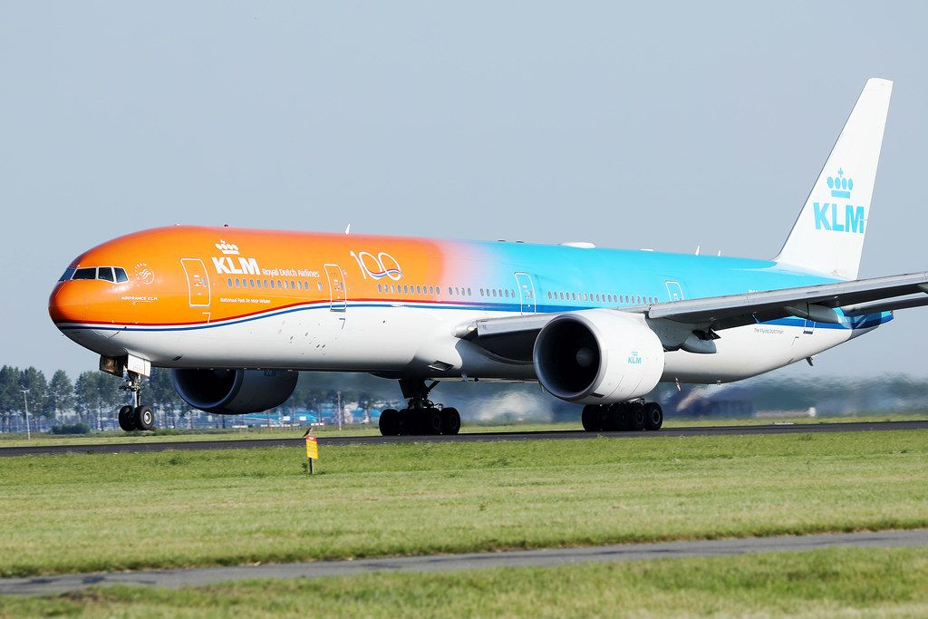 KLM Orange livery at Amsterdam Schiphol Airport