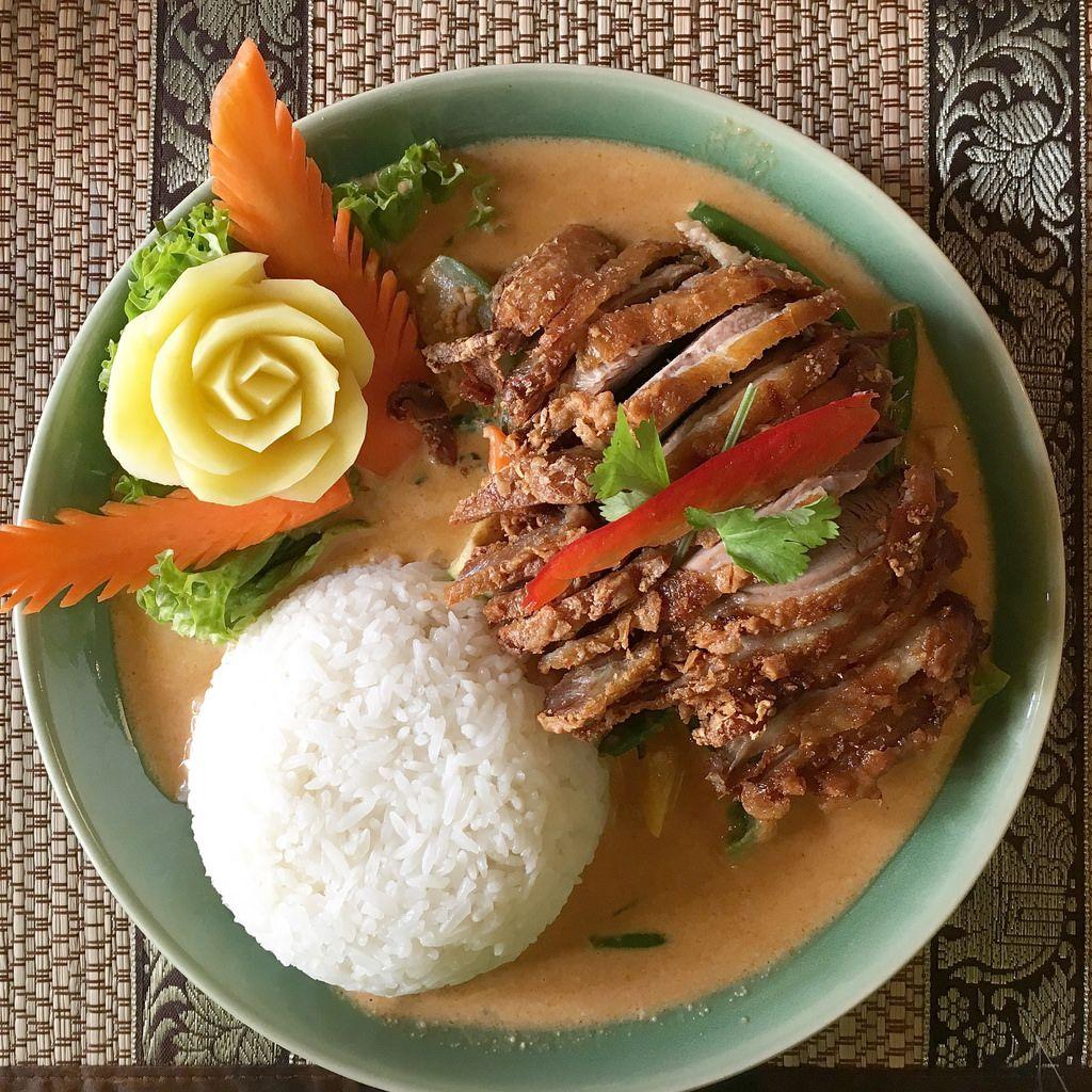 Knusprige Ente beim Thai