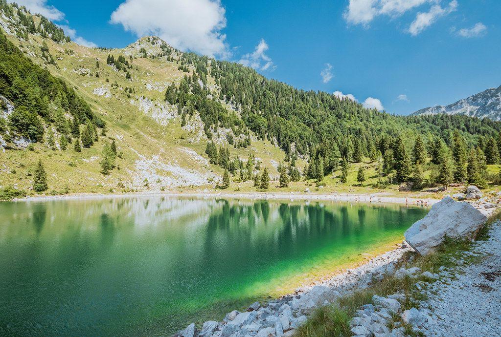 Krn lake in Slovenian mountains
