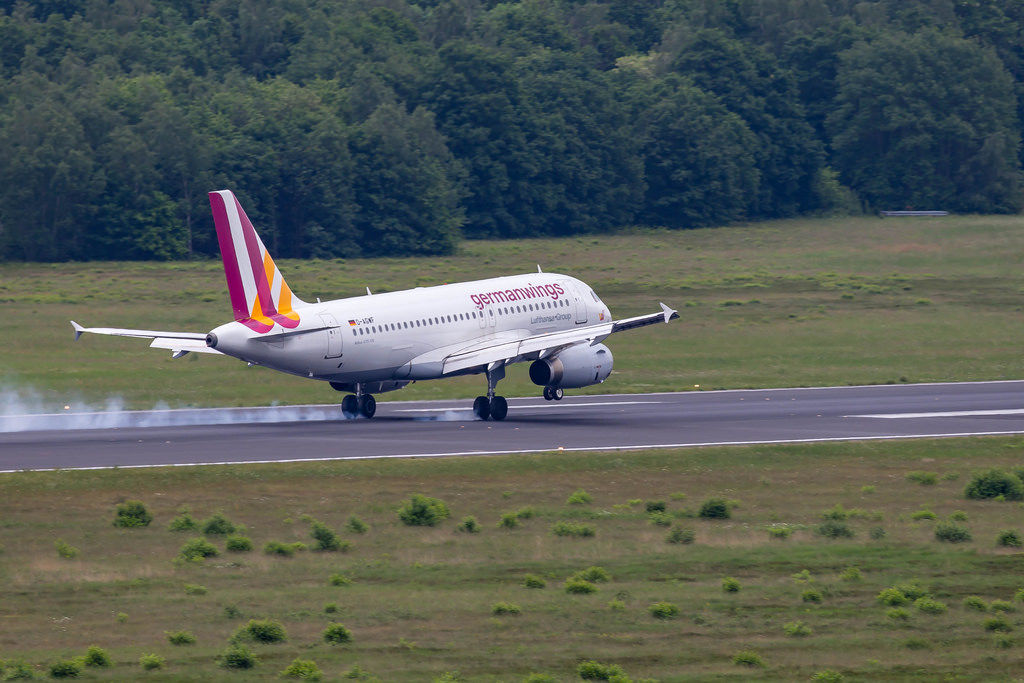Landendes germanwings-Flugzeug