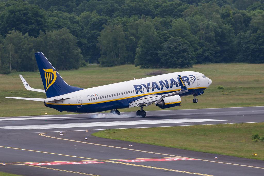 Landendes Ryanair-Flugzeug