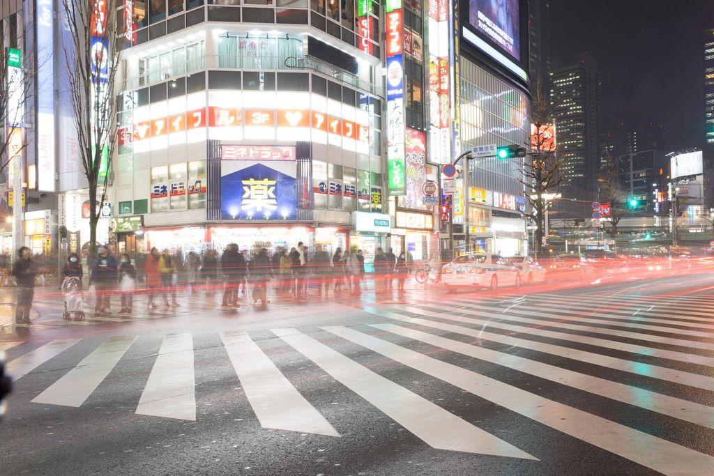 Langzeitbelichtung - Tokyo, Japan