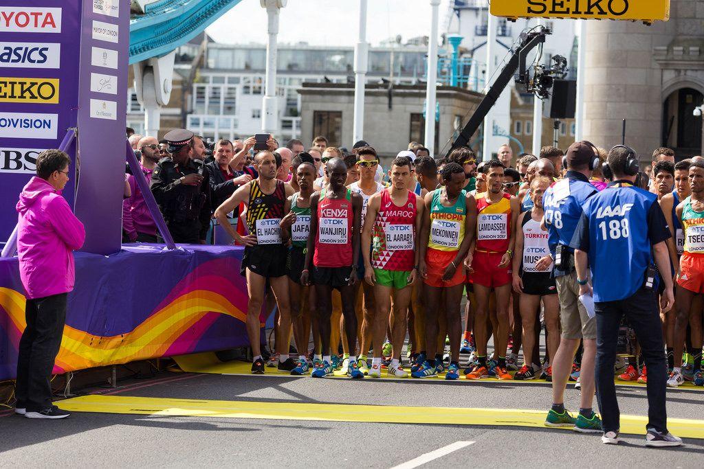 Läufer (Marathon Finale) bei den  IAAF Leichtathletik-Weltmeisterschaften 2017 in London