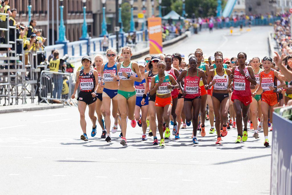 Läuferinnen (Marathon Finale) bei den IAAF Leichtathletik-Weltmeisterschaften 2017 in London