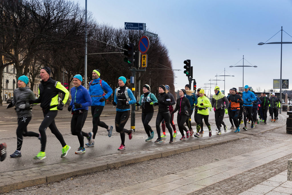 Laufgruppe in Stockholm