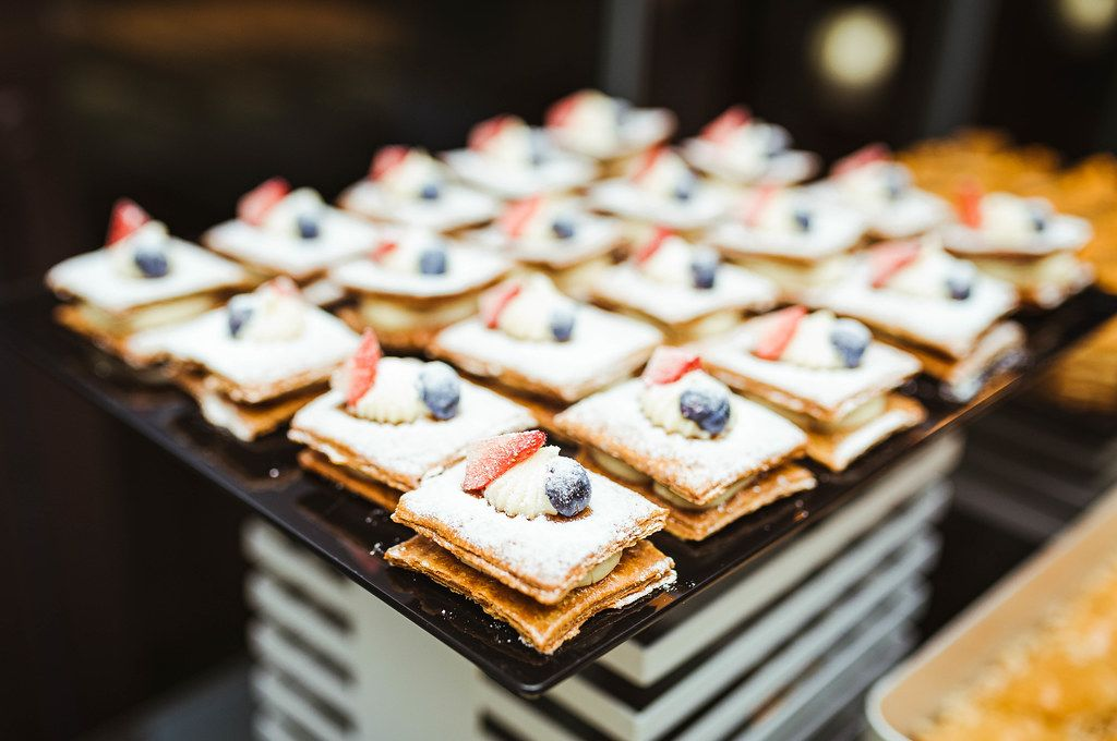 Layered Cream Cakes With Berries