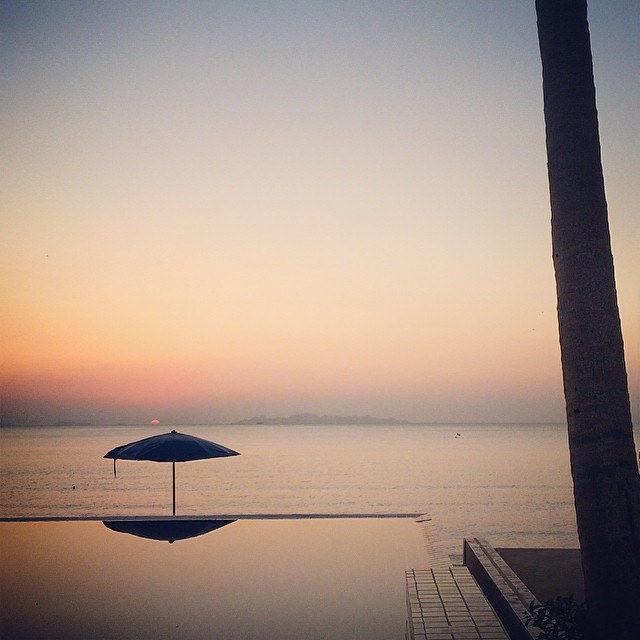 Leaving the paradise  #thailand #kohsamui #holiday #sea #sunset