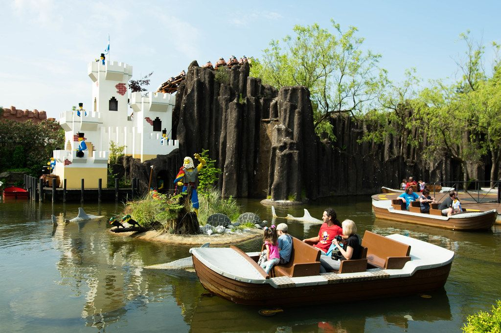 Lego boat ride in Legoland, Bilund