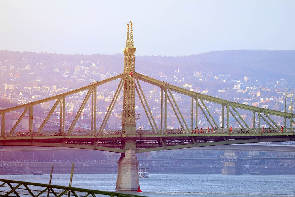 Liberty Bridge over Danube river, Budapest