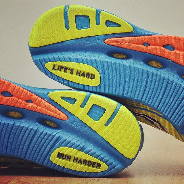 Life is hard, run harder. @saucony #running #sports #marathon