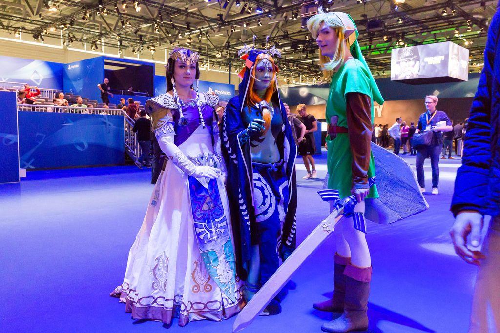 Link und weitere Zelda Cosplayer - Gamescom 2017, Köln