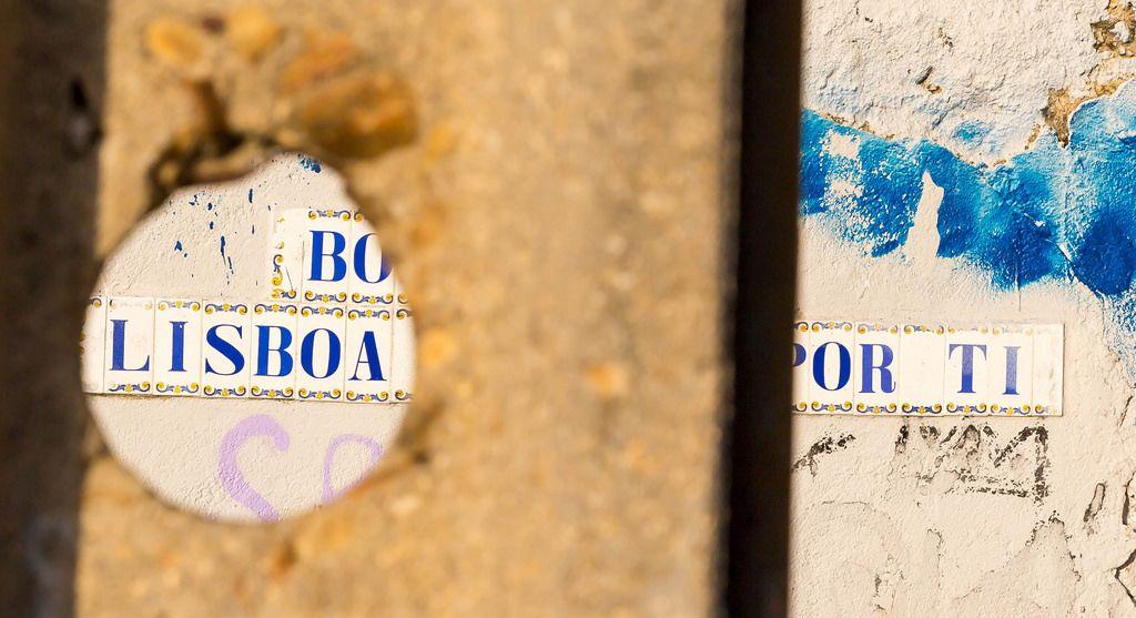 Lissabon-Keramikbuchstaben