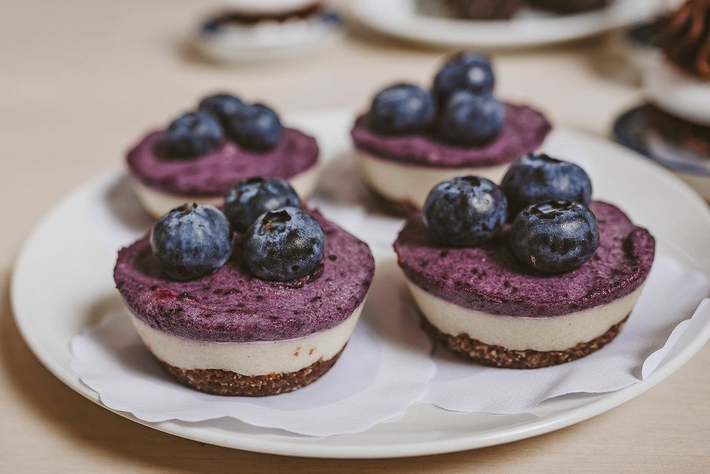 Litle blueberry cheese cakes