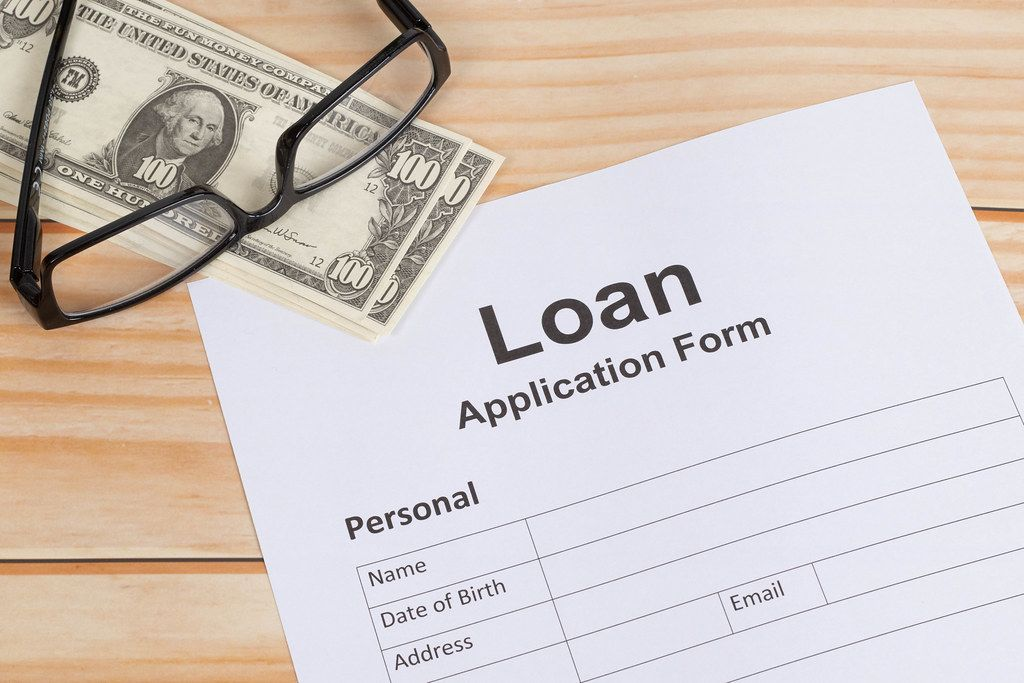 Loan Application Form on wooden table