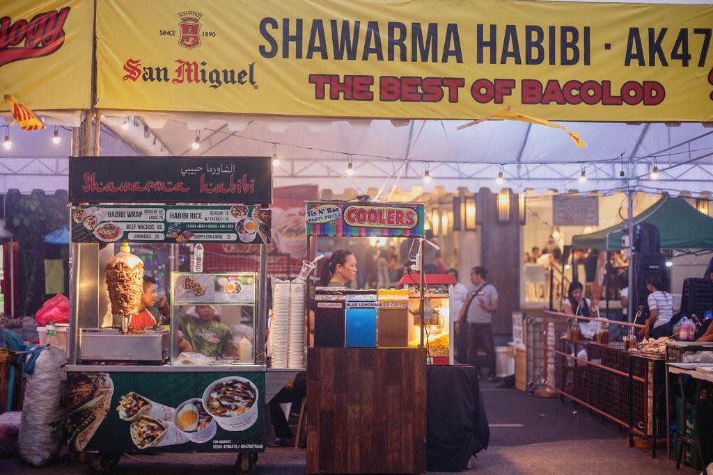 Local Shawarma food cart, Bacolod City