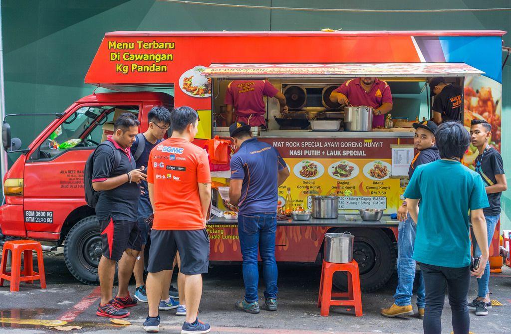 Local Street Food Truck near Petronas Twin Towers in Kuala Lumpur