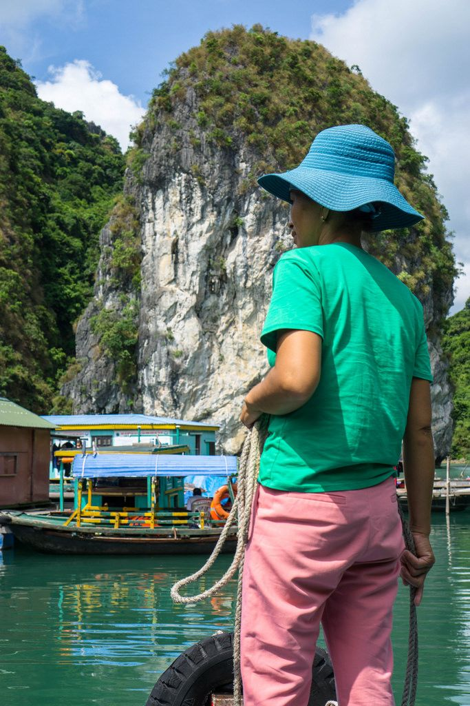 Local Vietnamese Woman in Ha Long Bay