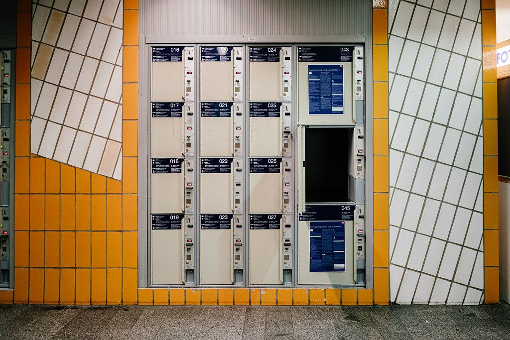Lockers for luggage storage at Berlin train station