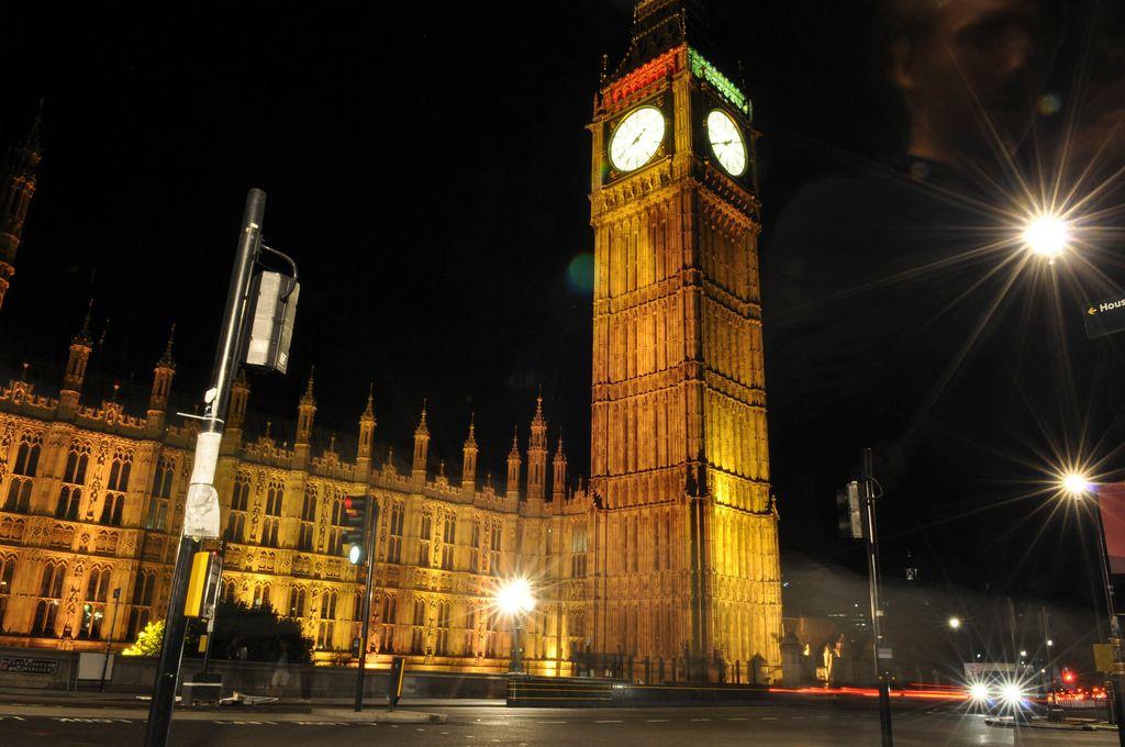 Londoner Big Ben bei Nacht
