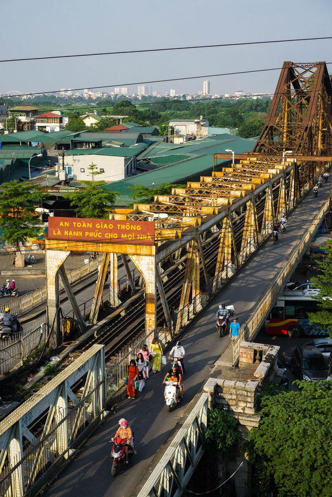 Long Bien Bridge View in Hanoi