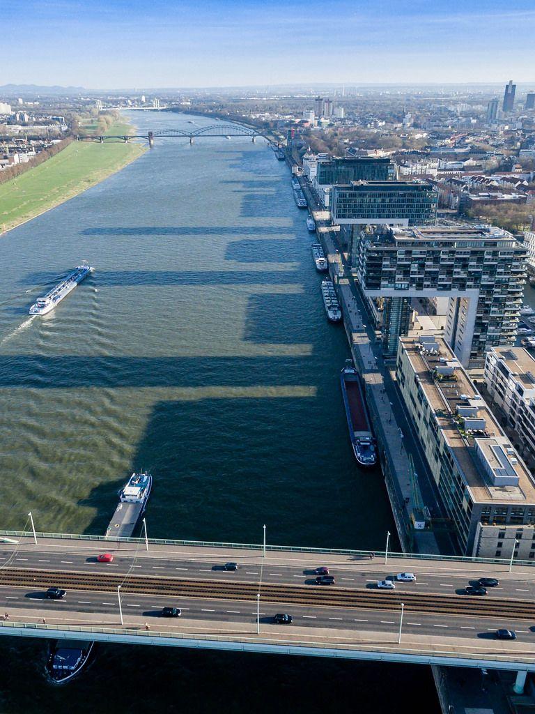 Lufbild: Kölner Rheinauhafen