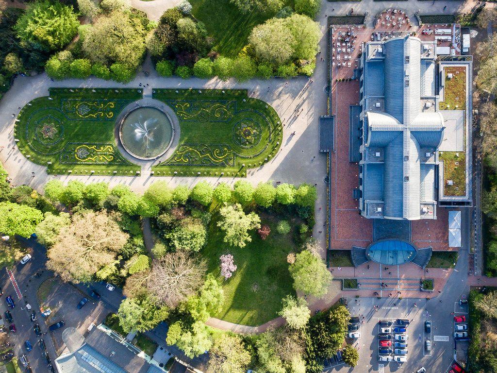 Luftaufnahme der Flora Köln