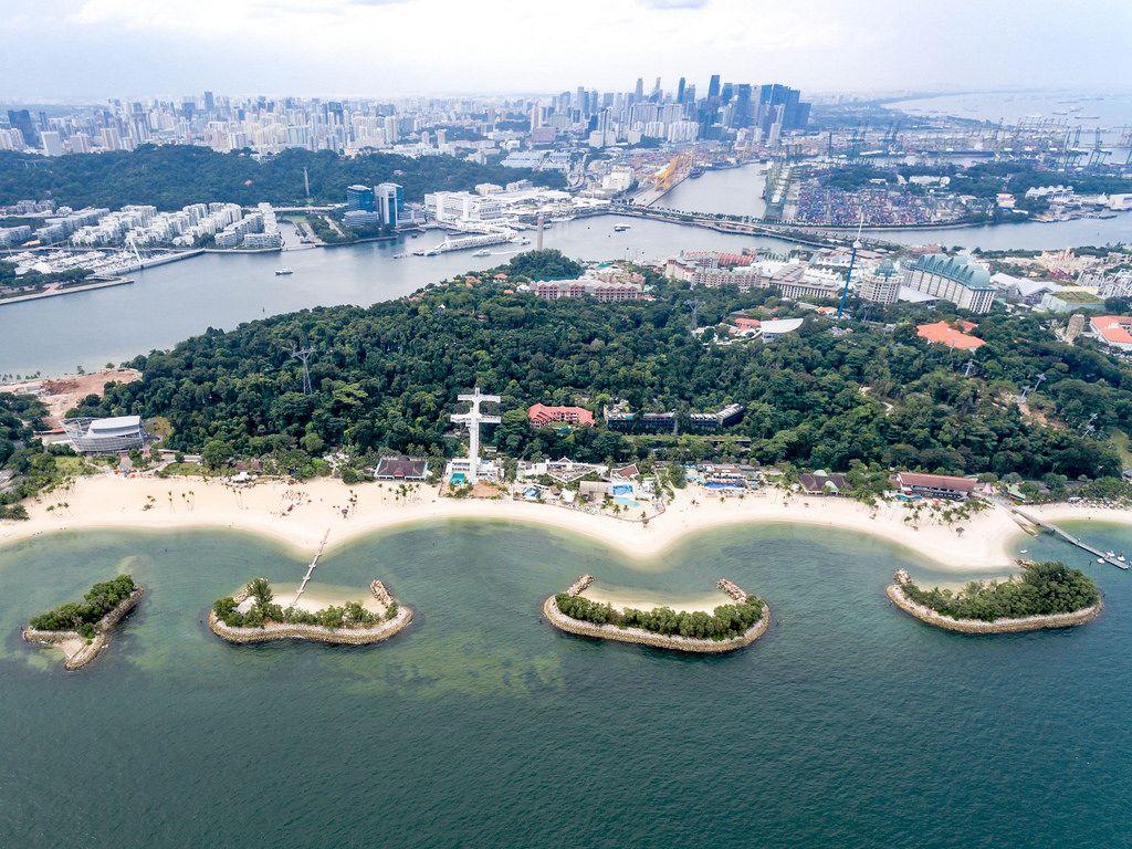 Luftaufnahme: Siloso Strand