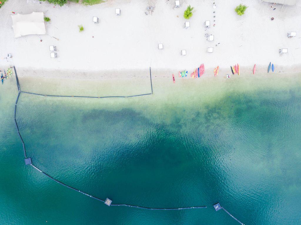 Luftbild: Blackfoot Beach am Fühlinger See
