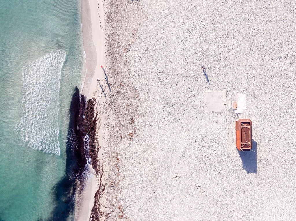 Luftbild: Brandun am Playa de Son Baulo