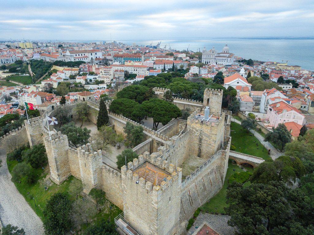 Luftbild des Castelo de São Jorge