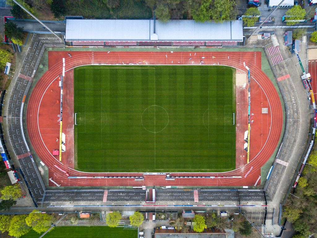Luftbild des Südstadions in Köln