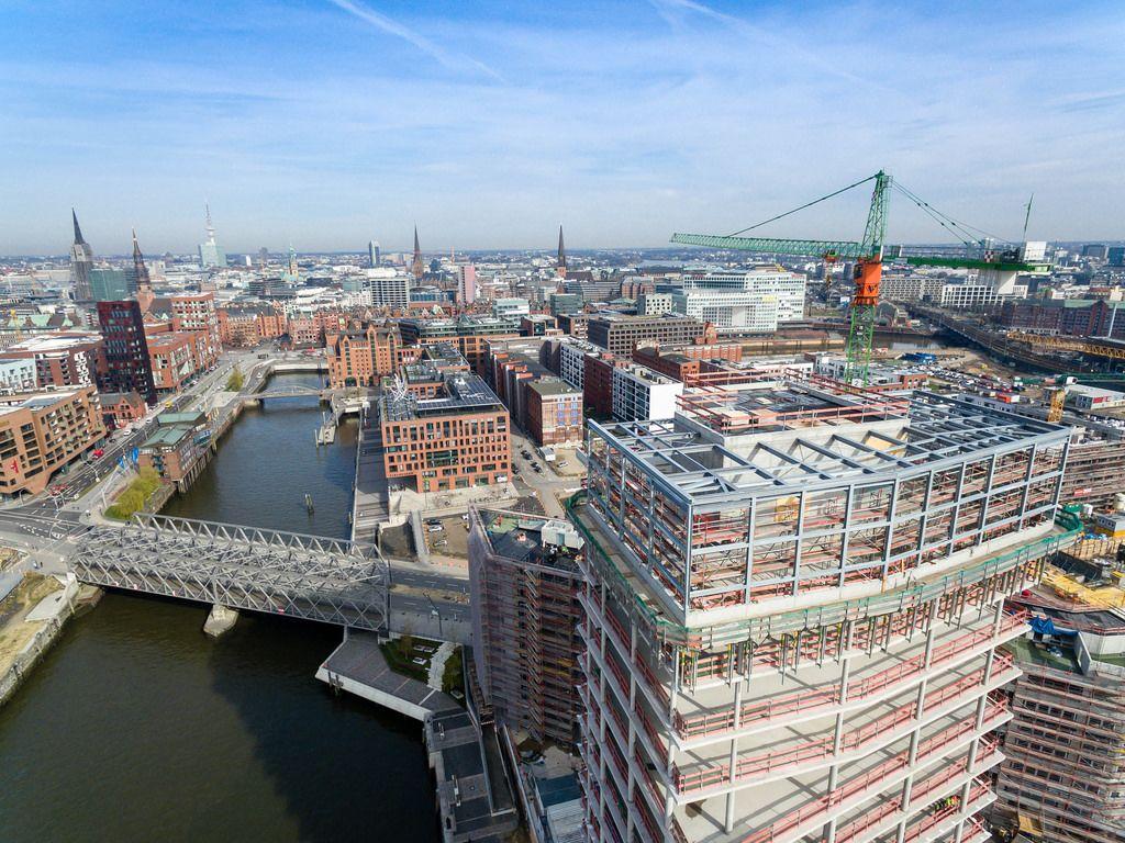 Luftbild: Hamburg-Speicherstadt und Hafencity