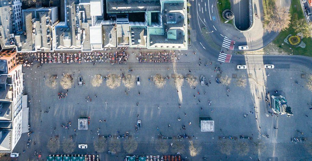 Luftbild: Heumarkt Köln