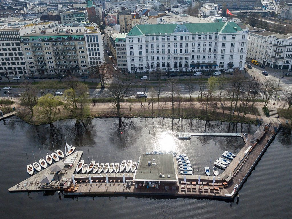 Luftbild: Hotel Atlantic in Hamburg